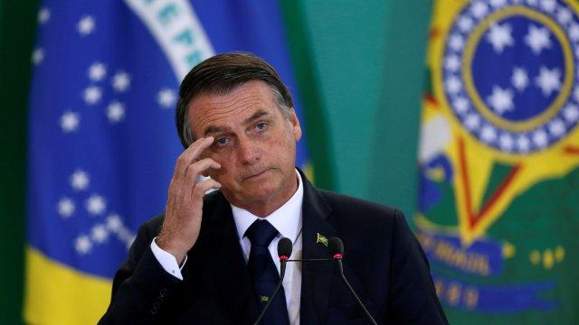 Foto: Jair Bolsonaro, presidente de Brasil, 7 abril 2019