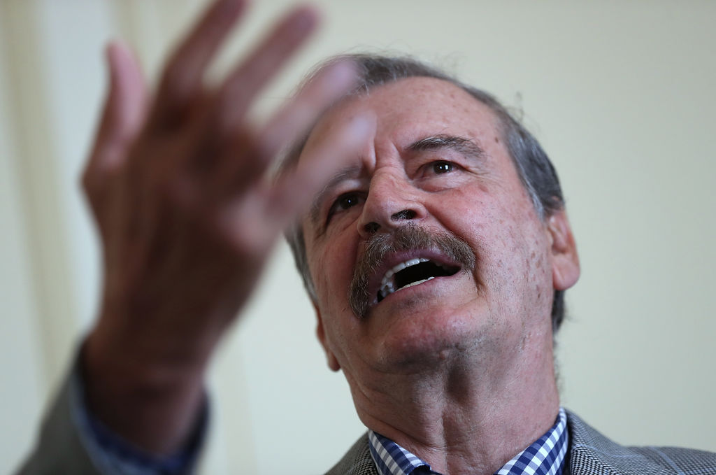 Foto: Expresidente de México, Vicente Fox, en una conferencia en San Fancisco, Estados Unidos el 19 de abril de 2019