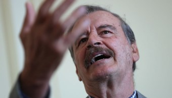 Foto: Expresidente de México, Vicente Fox, en una conferencia en San Fancisco, Estados Unidos el 19 de abril de 2019