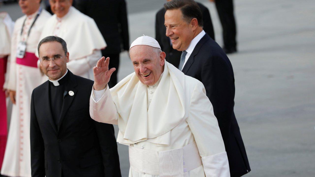 Foto: Papa Francisco llega al Aeropuerto Internacional de Tocumen, Panamá, el 23 de enero del 2019