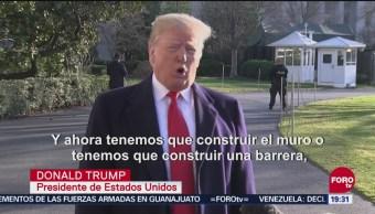 Funcionarios reiteran y respaldan planes de Trump sobre muro