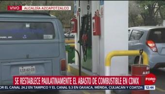 Gasolineras continúan cerradas en Azcapotzalco