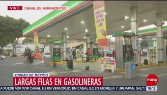 Gasolineras entre Tlalpan y Coyoacán, trabajan con reservas