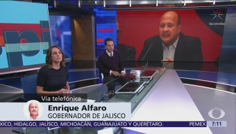 Gobernador Jalisco pide a Pemex dar la cara por desabasto de gasolinas