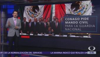 Gobernadores piden no militarizar al país con Guardia Nacional