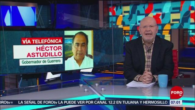 Héctor Astudillo: Guardia Nacional reforzará a las policías estatales y municipales