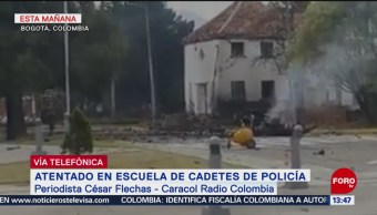 Hombre impactó auto bomba contra escuela de Policía en Bogotá