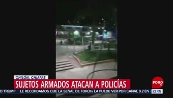 Hombres armados atacan a policías municipales de Chilón, Chiapas