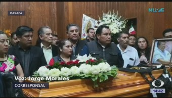 Homenaje a alcalde y sindico fallecidos en Oaxaca