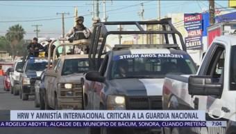 Human Rights Watch critica creación de la Guardia Nacional