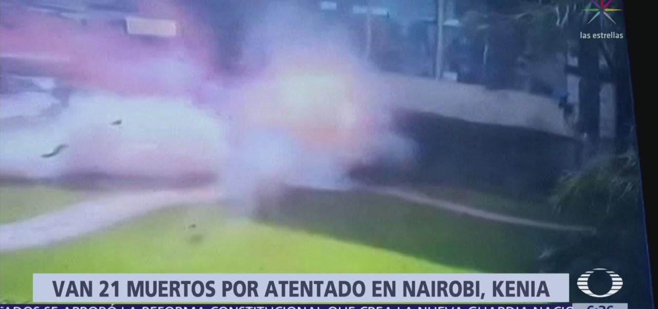 Imágenes de la explosión por ataque terrorista en Kenia