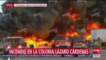 Incendio en zona de maquilas de Tijuana
