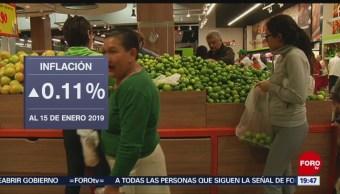 Foto: Índice Nacional de Precios al Consumidor 24 de enero 2019