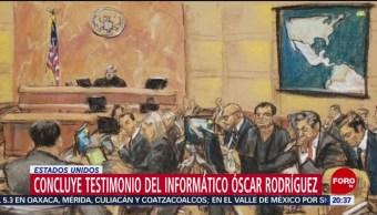 Juicio 'El Chapo' Concluye Testimonio Informático Óscar Rodríguez