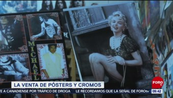 La venta de pósters y cromos