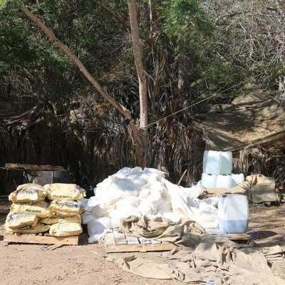 Aseguran dos laboratorios clandestinos en Culiacán, Sinaloa