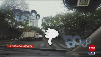 #LaCámaraUrbana en Expreso: Camión a mitad de avenida