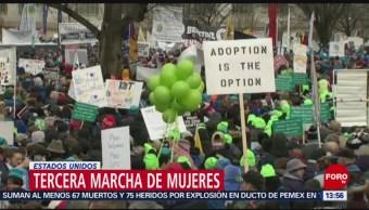 Marchan mujeres en Estados Unidos