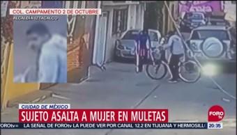 Ladrón Asalta A Mujer Que Andaba Con Muletas, Alcaldía Iztacalco