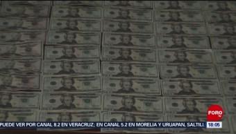 Aseguran droga y dólares falsos en Sinaloa