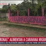 Foto: Las Patronas alimentan a migrantes que cruzan por México