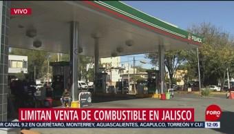 Limitan venta de gasolina en algunas estaciones de Jalisco