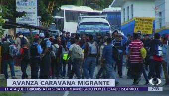 Llegan a Guatemala integrantes de la nueva caravana migrante de Honduras