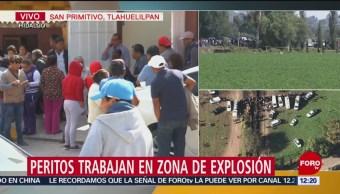 Llegan unidades médicas para apoyar a peritos en Hidalgo