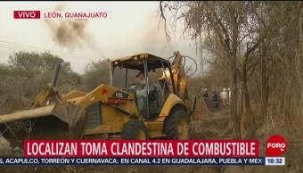 Localizan tomas clandestinas en León, Guanajuato