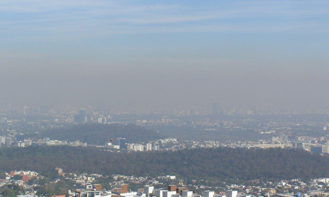 Valle de México presenta mala calidad del aire