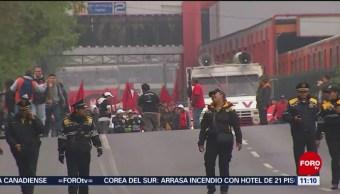 Manifestaciones cierran vialidad en calzada de Tlalpan, CDMX