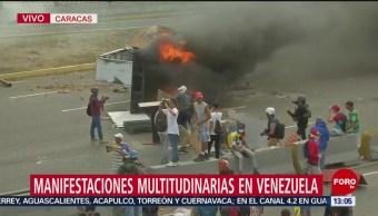 Manifestaciones multitudinarias en Venezuela
