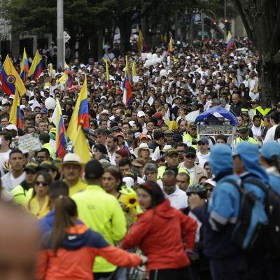 Miles de colombianos se manifiestan contra el terrorismo