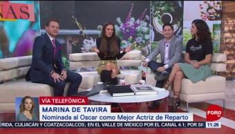 Marina de Tavira: Muy orgullosa de representar a México con 'Roma'
