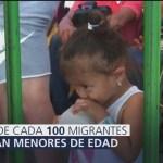 Más de mil 800 niños viajan en la nueva caravana migrante