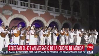 Mérida celebra 447 años de su fundación