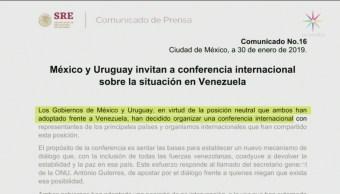 Foto: México y Uruguay convocan a conferencia internacional sobre Venezuela