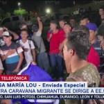 Migrantes hondureños llegan a frontera con Guatemala