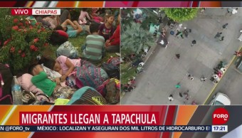 Migrantes llegan a Tapachula, Chiapas
