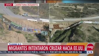 Migrantes salen de 'El Barretal' con esperanza de cruzar a EU