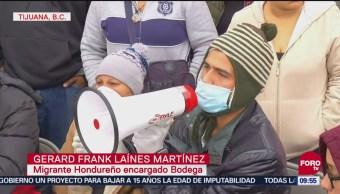 Migrantes Se Resisten A Abandonar Bodega En Tijuana, Migrantes Se Resisten A Abandonar Bodega, Tijuana