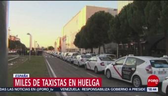 Miles de taxistas van a huelga en España