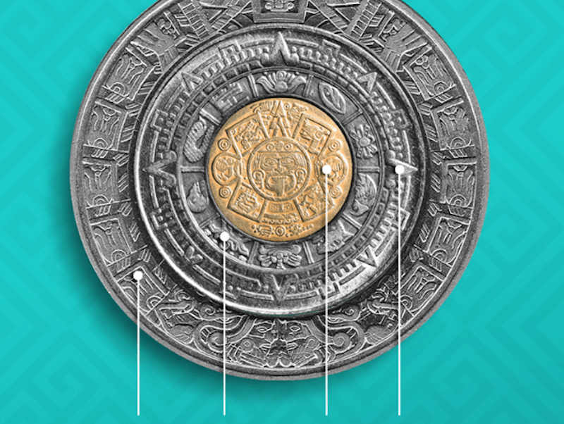 Calendario Azteca.Estas Monedas Mexicanas Forman El Calendario Azteca Noticieros