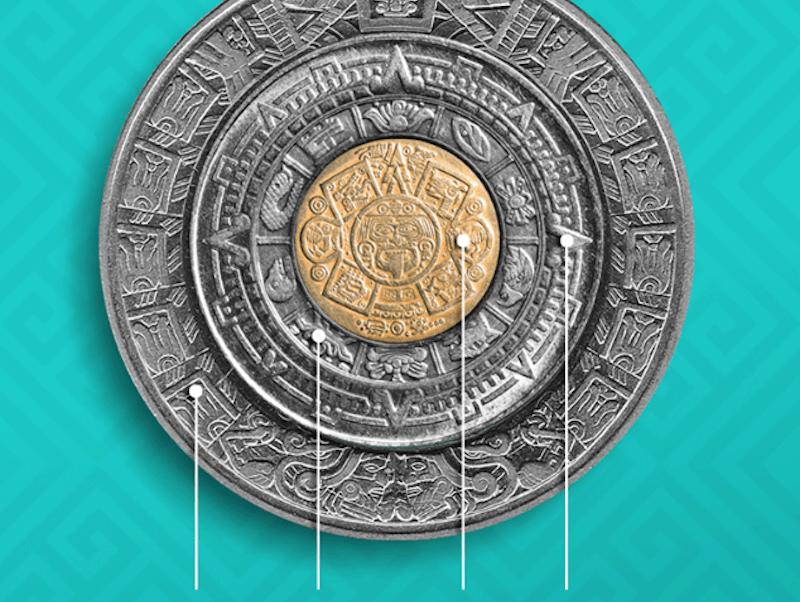 Calendario Azteca.Estas Monedas Mexicanas Forman El Calendario Azteca