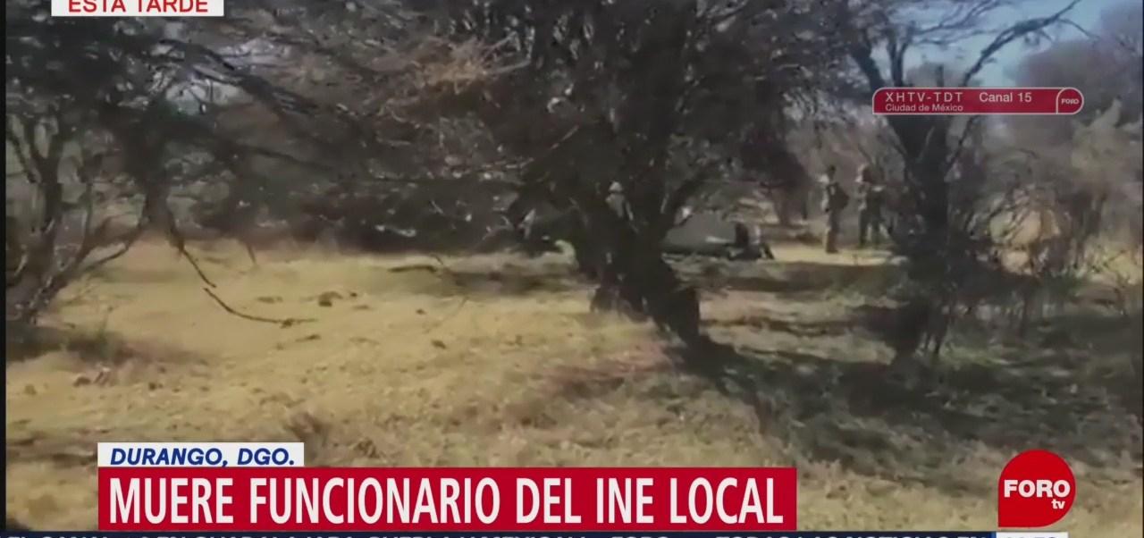 Foto: Muere funcionario del INE al caer avioneta en Durango