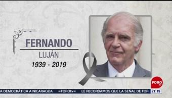 Murió El Actor Fernando Luján En Oaxaca