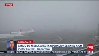 Niebla afecta operaciones en AICM, envían vuelos a aeropuertos alternos