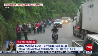 Nueva caravana migrante cruza frontera de Guatemala