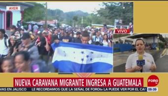 Nueva caravana migrante ingresa a Guatemala