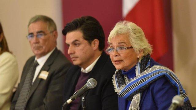Olga Sánchez Cordero y Zoé Robledo, situación de bloqueos en Michoacán, 24 enero 2019, Twitter